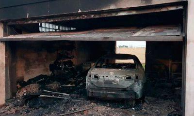 En mediio de la campaña por las elecciones presidenciales, Gustavo Hein sufrió el incendio de su auto
